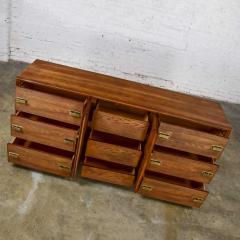 Bassett Furniture Bassett modern credenza buffet dresser in medium tone finish - 1938905