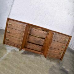 Bassett Furniture Bassett modern credenza buffet dresser in medium tone finish - 1938906