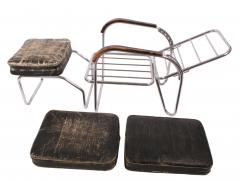 Bauhaus 1920s Original Bauhaus Easy Chair and Ottoman - 57394