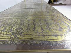 Beacon Hill Midcentury Brass Cast Bronze Plaques and Glass Coffee Table Beacon Hill 1960s - 572426