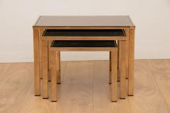 Belgo Chrome Hollywood Regency Gold Plated Nest of Tables by Belgo Chrome c 1970 - 1942754