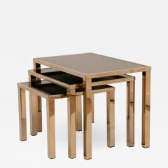 Belgo Chrome Hollywood Regency Gold Plated Nest of Tables by Belgo Chrome c 1970 - 2099526