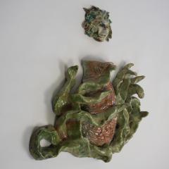 Bella Hunt DDC CALDERONE Raku wall sculpture - 1744753