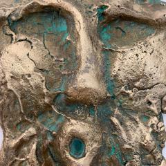 Bella Hunt DDC TETE ROMANE Bronze wall sculpture - 1434718