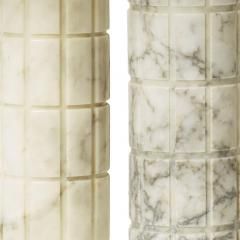 Bergboms Mod Table Lamps with Carved Grid Relief by Bergboms - 1701574
