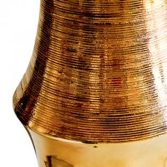 Bergboms Organically modeled table lamp with gold glaze by Bitossi for Bergboms - 1137739