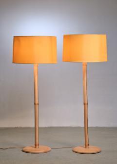 Bergboms Pair of Bergboms birch floor lamps - 1989239