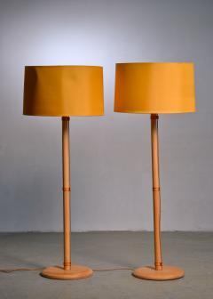Bergboms Pair of Bergboms birch floor lamps - 1989240