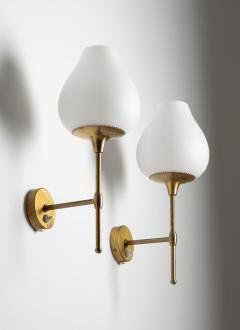 Bergboms Pair of Swedish Midcentury Wall Lamps by Alf Svensson for Bergboms - 1620238