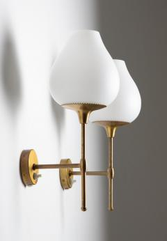 Bergboms Pair of Swedish Midcentury Wall Lamps by Alf Svensson for Bergboms - 1620242