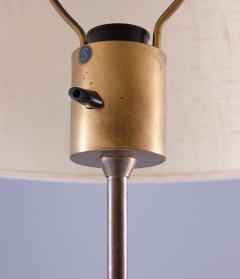 Bergboms Scandinavian Midcentury Floor Lamp in Brass and Wood by Bergboms Sweden - 1620146