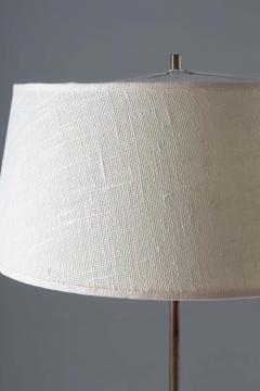 Bergboms Scandinavian Midcentury Floor Lamp in Brass and Wood by Bergboms Sweden - 1620148