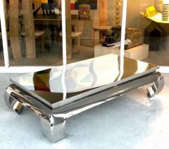 Bernhardt Furniture Company Bernhardt Stainless Steel Coffee Table - 1308219