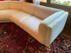 Bernhardt Furniture Company Vintage Bernhardt 3 pc Sectional Sofa Attributed to Milo Baughman 1989 - 1274714