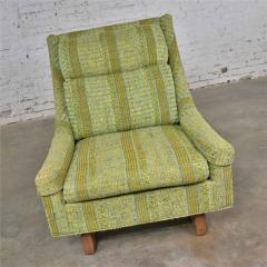 Bernhardt Furniture Company Vintage mid century modern high back lounge chair by flair division of bernhardt - 1668999