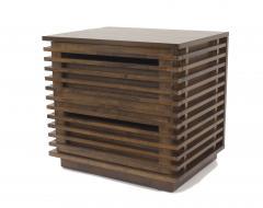 Bernhardt Linea Bernhardt Linea Contemporary Walnut Bedside Tables - 1438635