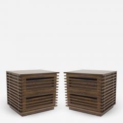 Bernhardt Linea Bernhardt Linea Contemporary Walnut Bedside Tables - 1462329