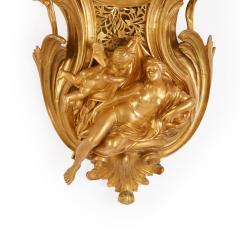 Bertoud Large gilt bronze antique French cartel clock by Bertoud - 1494002