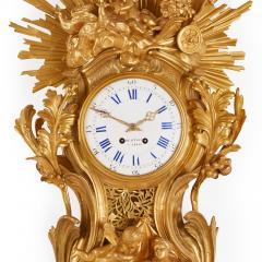 Bertoud Large gilt bronze antique French cartel clock by Bertoud - 1494009