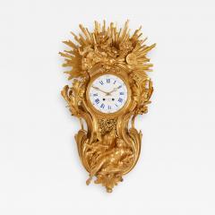 Bertoud Large gilt bronze antique French cartel clock by Bertoud - 1494358
