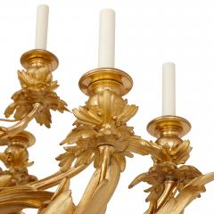 Beurdeley Monumental gilt and patinated bronze candelabra by Beurdeley - 1577272
