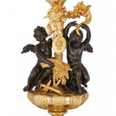 Beurdeley Monumental gilt and patinated bronze candelabra by Beurdeley - 1577284