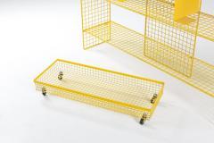 Bieffeplast Bieffeplast Yellow Metal Shelve System Post Modern Italian Design 1970 - 1999095