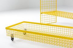 Bieffeplast Bieffeplast Yellow Metal Shelve System Post Modern Italian Design 1970 - 1999097