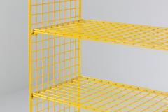Bieffeplast Bieffeplast Yellow Metal Shelve System Post Modern Italian Design 1970 - 1999105