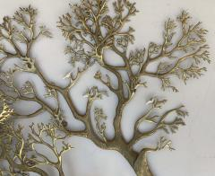 Bijan Huge Brass Tree Wall Sculpture - 990076