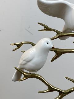 Bijan SIGNED BIJAN CERAMIC BIRDS AND BRASS TREE SCULPTURE - 1201218