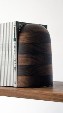 Birnam Wood Studio Bookends in Walnut and Brass Handmade Bookstops - 1102430