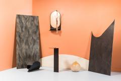Birnam Wood Studio Dark Stone Wall Mirror with Integral Vase and Shelf by Birnam Wood Studio - 1102825