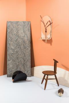 Birnam Wood Studio Dark Stone Wall Mirror with Integral Vase and Shelf by Birnam Wood Studio - 1102857