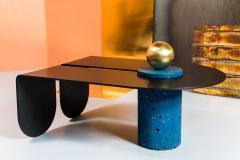 Birnam Wood Studio U I Coffee Table with Brass Storage Sphere - 1089017