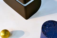Birnam Wood Studio U I Coffee Table with Brass Storage Sphere - 1089020