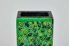 Bitossi 1960s Bitossi Rectangular Vase by Aldo Londi with Signature - 1687257