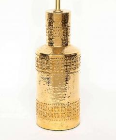 Bitossi Bitossi Incised 22 Karat Gold Glazed Lamps - 1900543