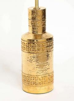 Bitossi Bitossi Incised 22 Karat Gold Glazed Lamps - 1900544