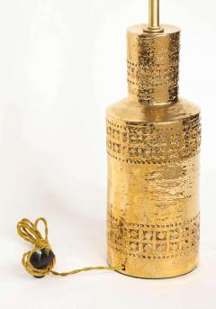 Bitossi Bitossi Incised 22 Karat Gold Glazed Lamps - 1900545