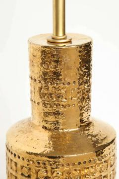 Bitossi Bitossi Incised 22 Karat Gold Glazed Lamps - 1900546