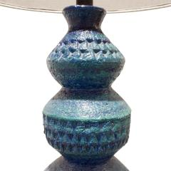 Bitossi Bitossi Large Textural Studio Made Ceramic Table Lamp 1950s - 540508