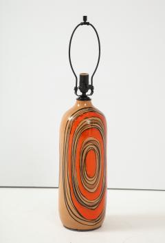 Bitossi Bitossi Modernist Orange Glazed Ceramic Lamps - 1108777