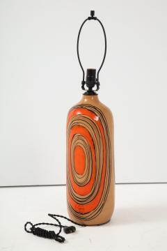 Bitossi Bitossi Modernist Orange Glazed Ceramic Lamps - 1108778