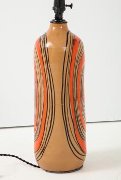Bitossi Bitossi Modernist Orange Glazed Ceramic Lamps - 1108780