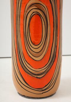 Bitossi Bitossi Modernist Orange Glazed Ceramic Lamps - 1108781