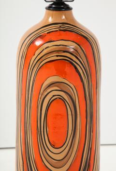 Bitossi Bitossi Modernist Orange Glazed Ceramic Lamps - 1108782