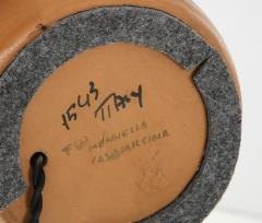 Bitossi Bitossi Modernist Orange Glazed Ceramic Lamps - 1108783