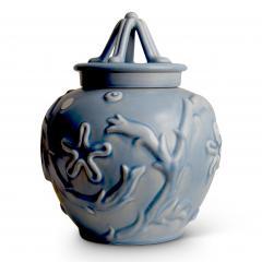 Bo Fajans Pair of Lidded Vases with Marine Life Theme by Bo Fajans - 469669