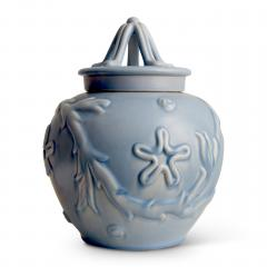 Bo Fajans Pair of Lidded Vases with Marine Life Theme by Bo Fajans - 469670